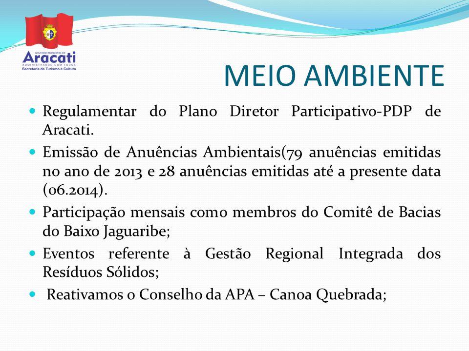 MEIO AMBIENTE Regulamentar do Plano Diretor Participativo-PDP de Aracati.