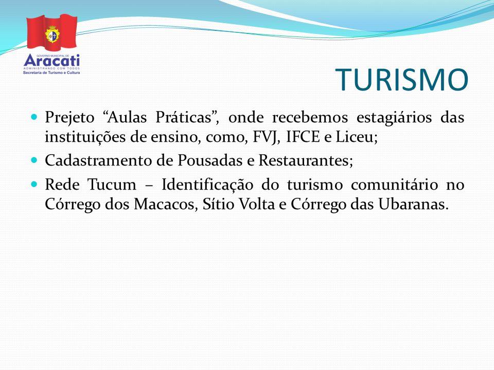 TURISMO Prejeto Aulas Práticas , onde recebemos estagiários das instituições de ensino, como, FVJ, IFCE e Liceu;