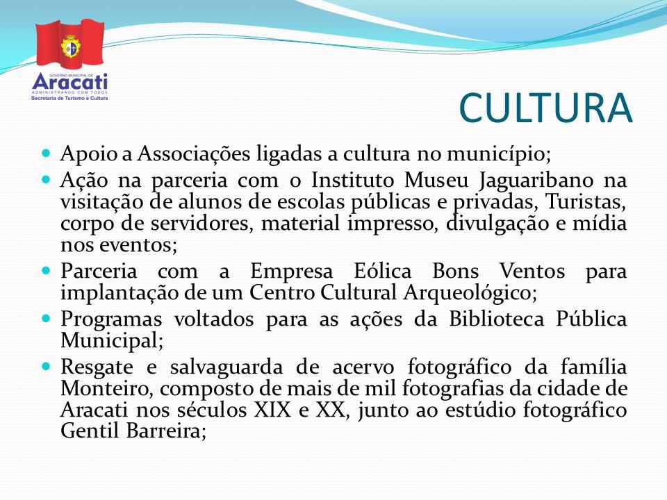 CULTURA Apoio a Associações ligadas a cultura no município;