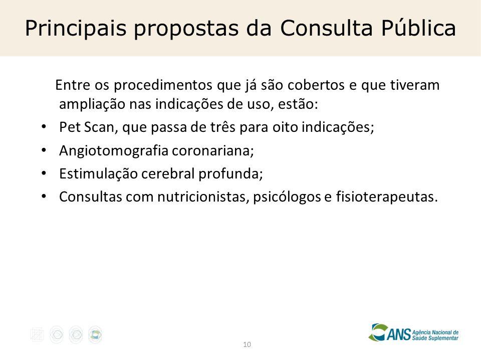 Principais propostas da Consulta Pública