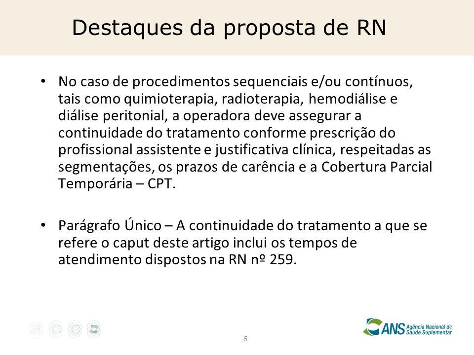 Destaques da proposta de RN