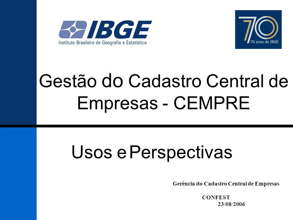 Gestão do Cadastro Central de Empresas - CEMPRE