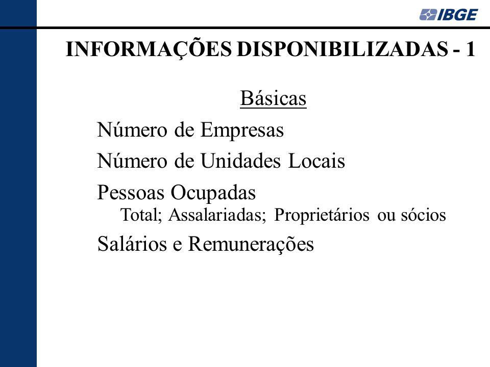 INFORMAÇÕES DISPONIBILIZADAS - 1