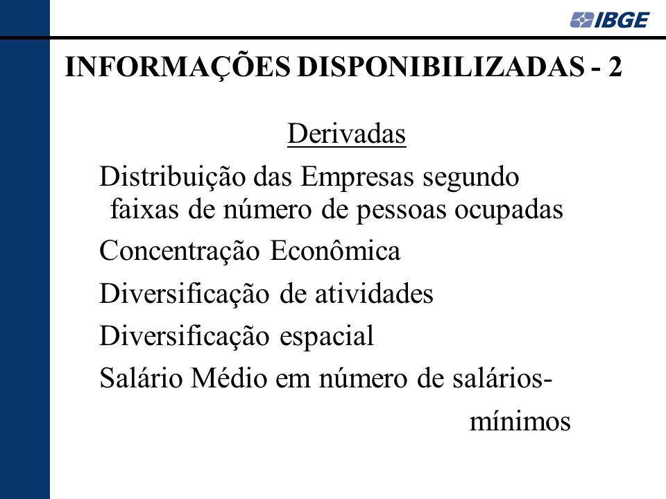INFORMAÇÕES DISPONIBILIZADAS - 2