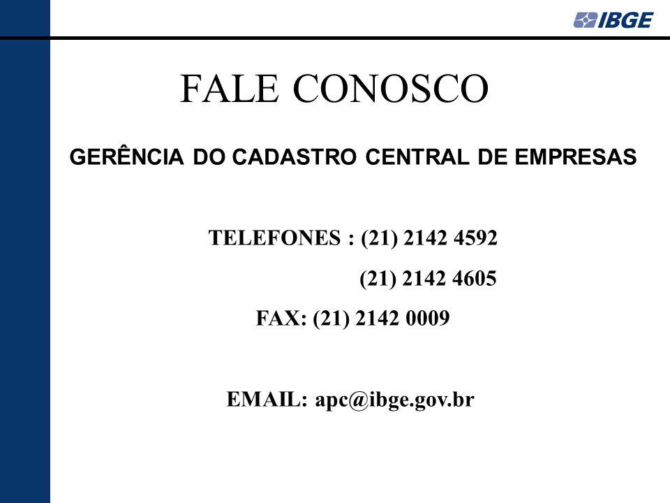 GERÊNCIA DO CADASTRO CENTRAL DE EMPRESAS