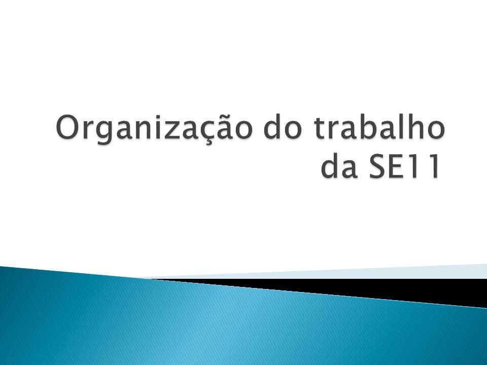 Organização do trabalho da SE11