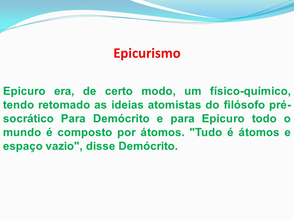 Epicurismo