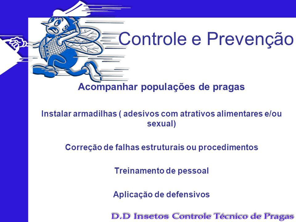 Controle e Prevenção Acompanhar populações de pragas