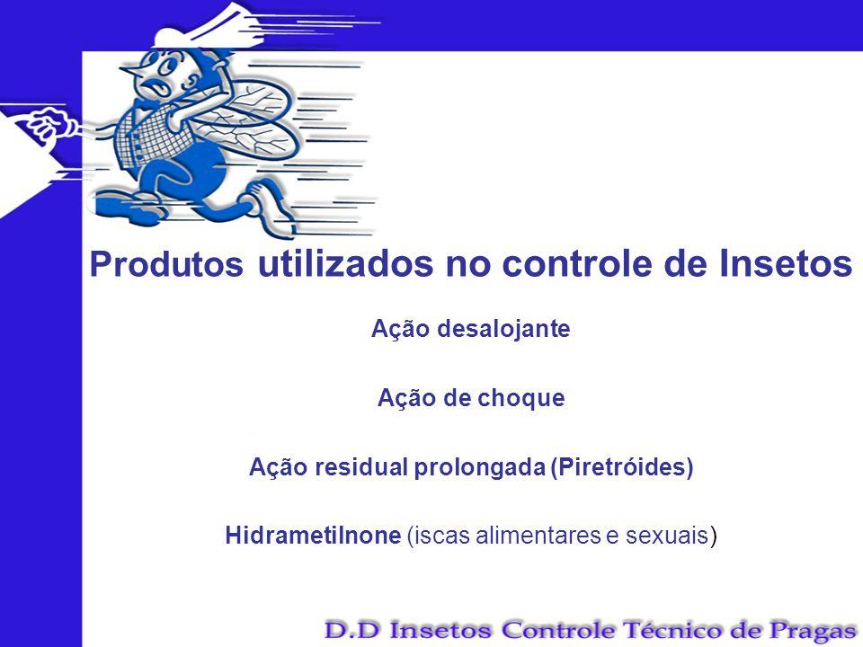 Produtos utilizados no controle de Insetos