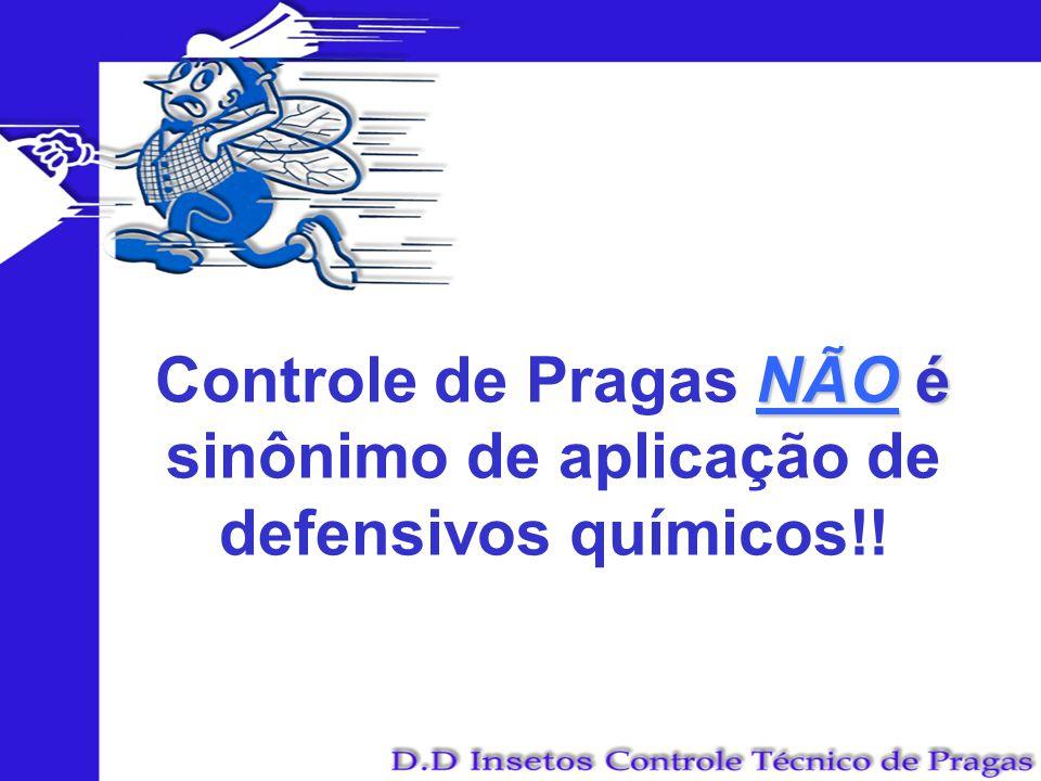 Controle de Pragas NÃO é sinônimo de aplicação de defensivos químicos!!