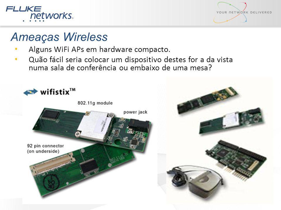 Ameaças Wireless Alguns WiFi APs em hardware compacto.