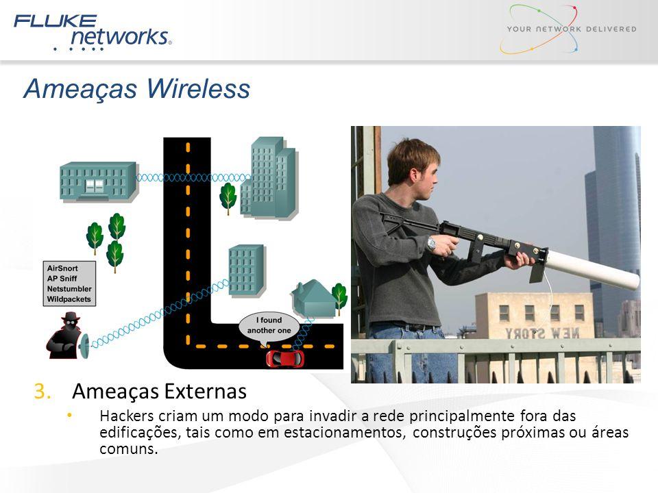 Ameaças Wireless Ameaças Externas