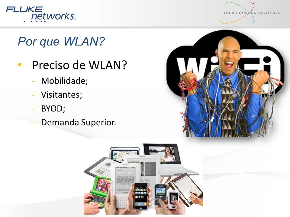 Preciso de WLAN Por que WLAN Mobilidade; Visitantes; BYOD;