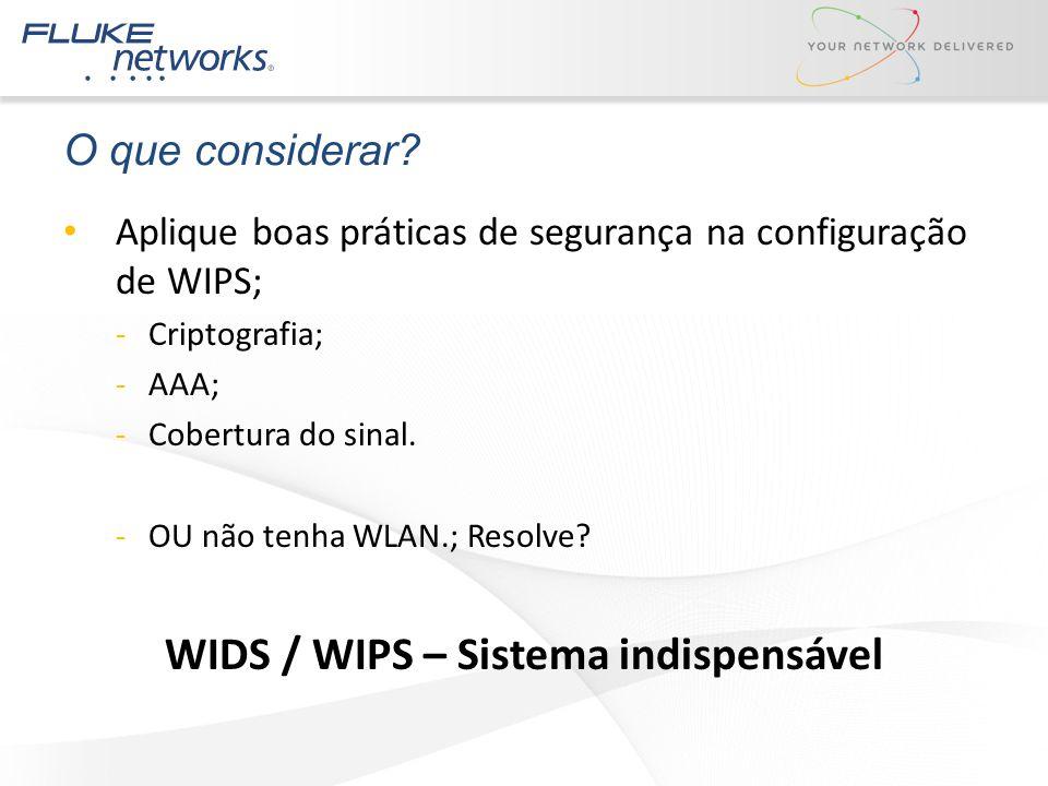 WIDS / WIPS – Sistema indispensável