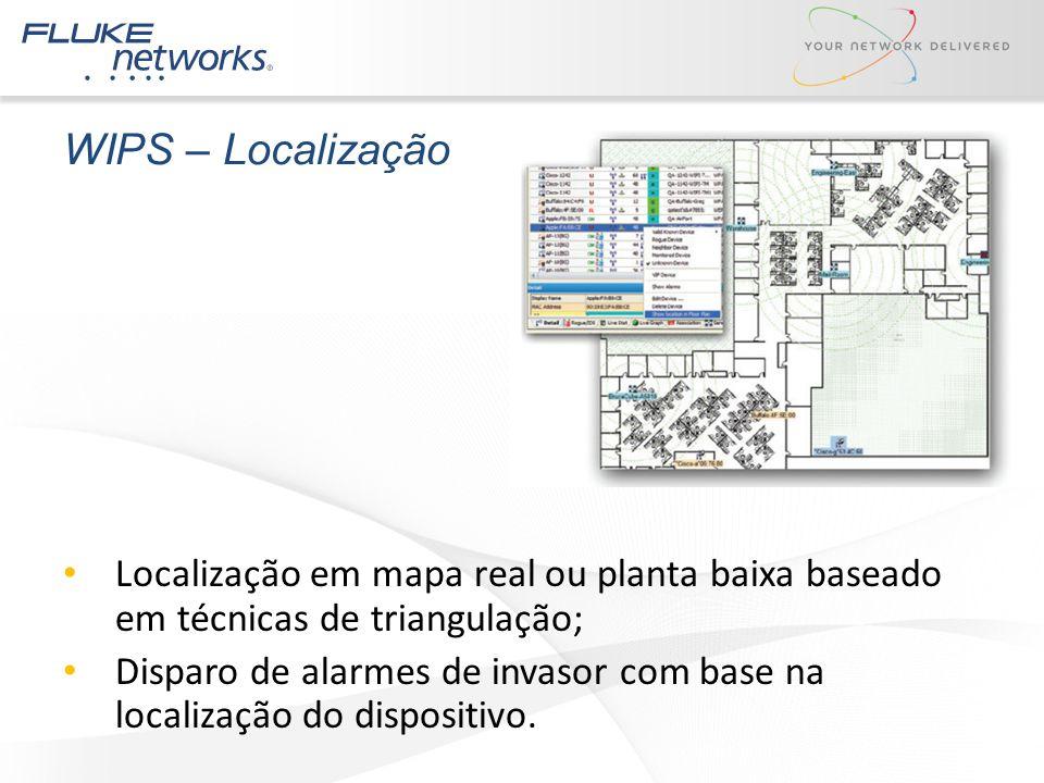 WIPS – Localização Localização em mapa real ou planta baixa baseado em técnicas de triangulação;