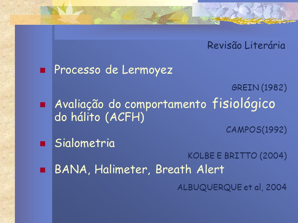 GREIN (1982) Processo de Lermoyez