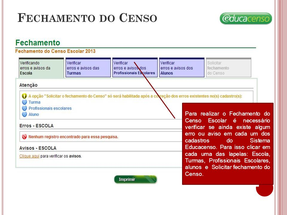 Fechamento do Censo