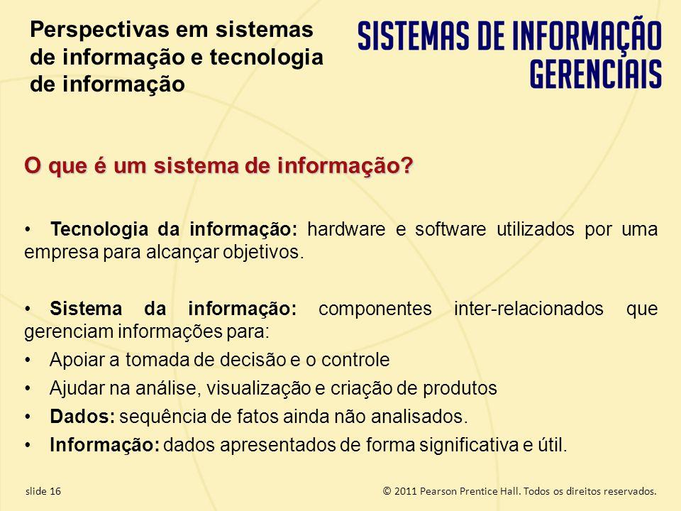 Perspectivas em sistemas de informação e tecnologia de informação