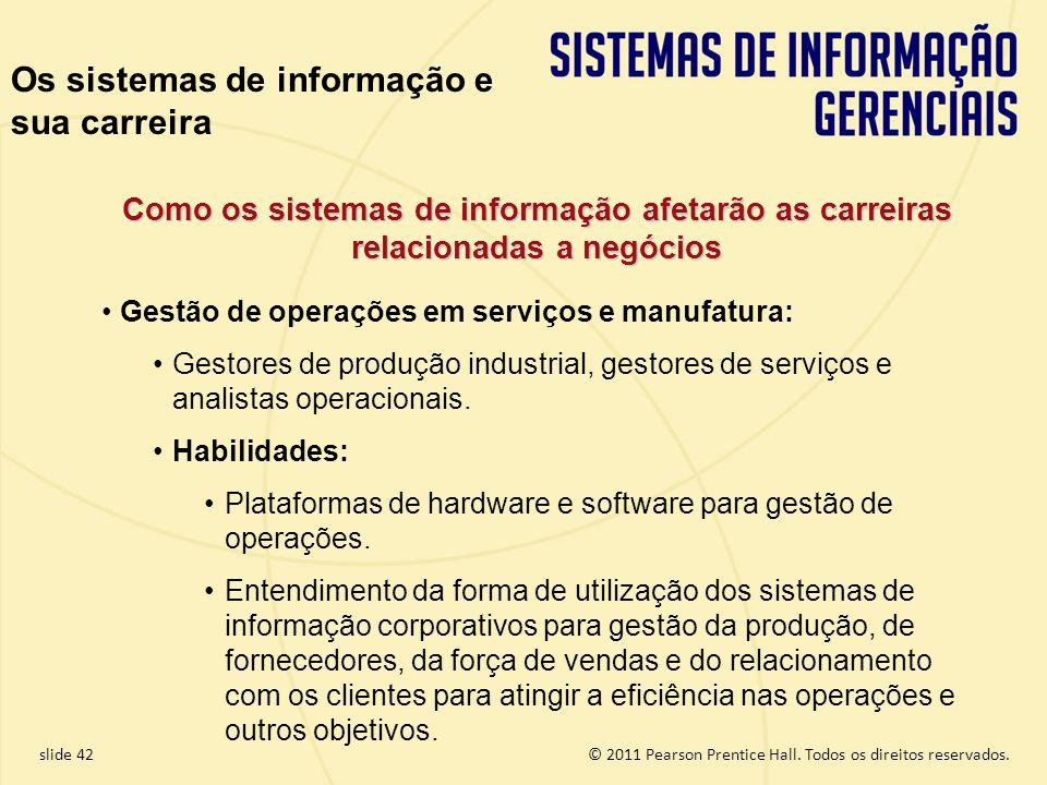 Os sistemas de informação e sua carreira