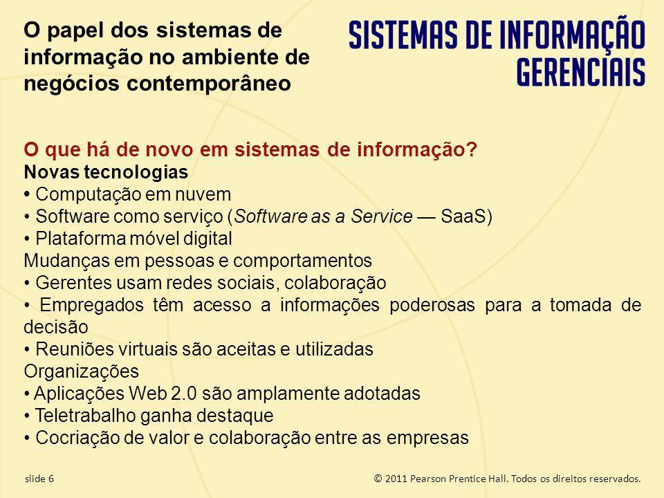 O papel dos sistemas de informação no ambiente de negócios contemporâneo