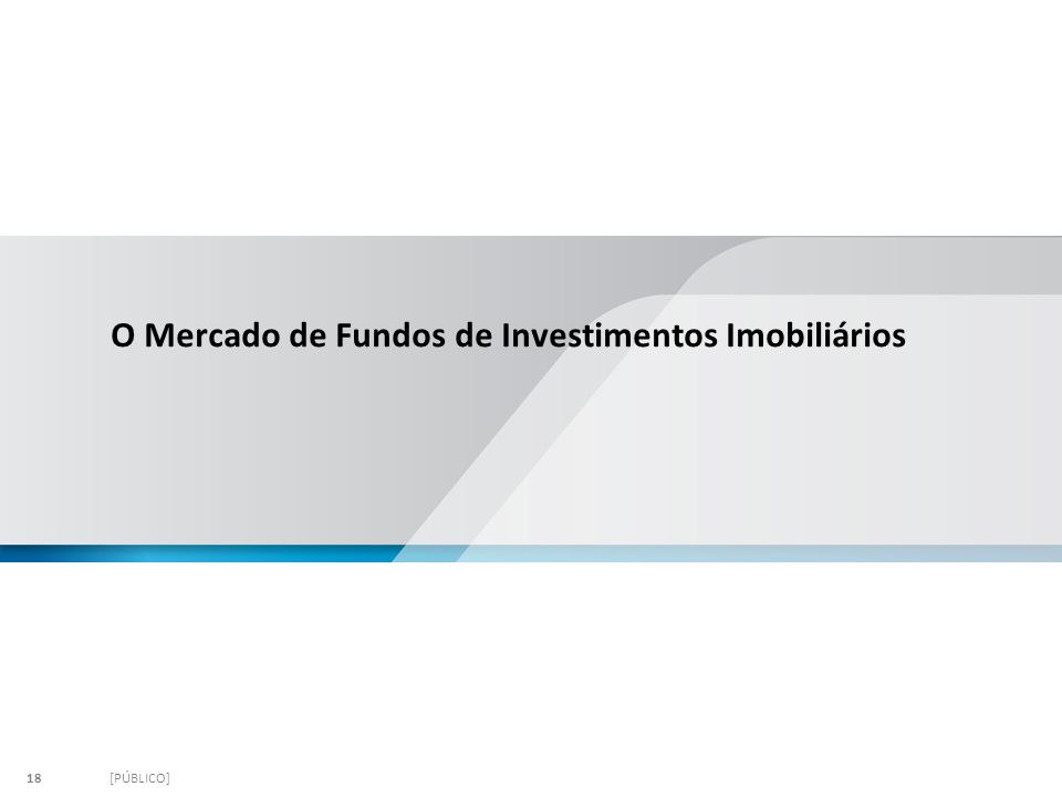 O Mercado de Fundos de Investimentos Imobiliários