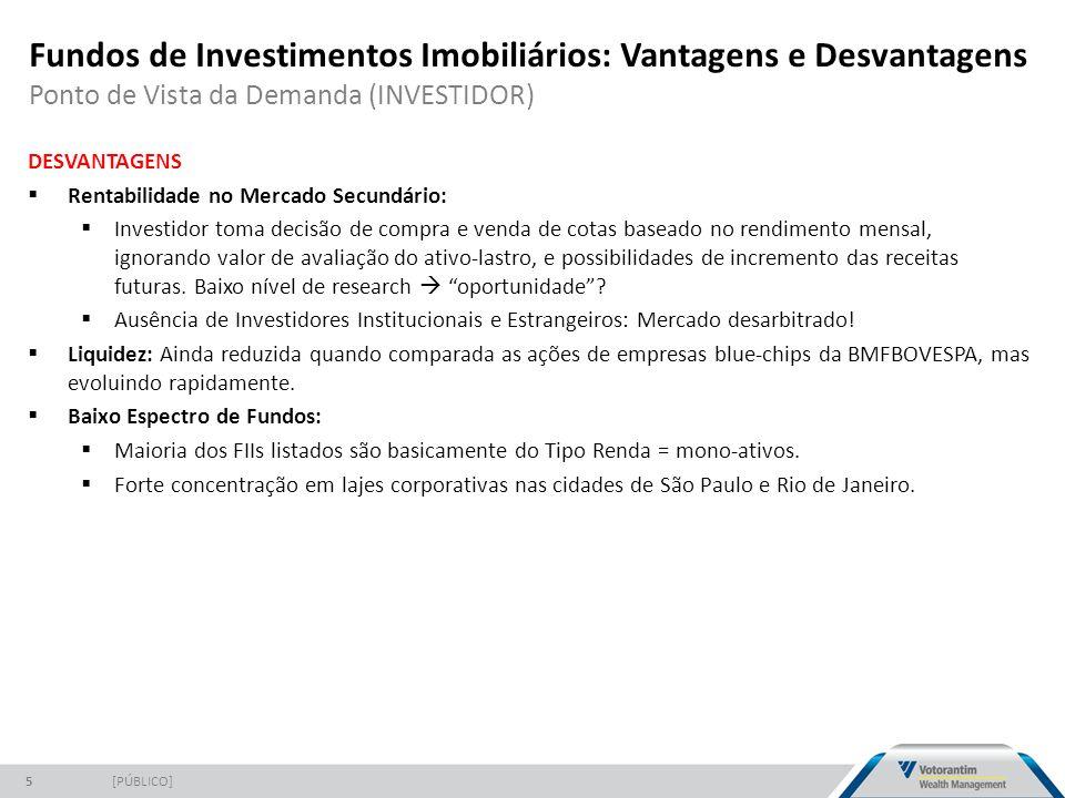 Fundos de Investimentos Imobiliários: Vantagens e Desvantagens Ponto de Vista da Demanda (INVESTIDOR)