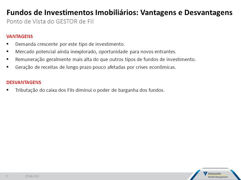 Fundos de Investimentos Imobiliários: Vantagens e Desvantagens Ponto de Vista do GESTOR de FII