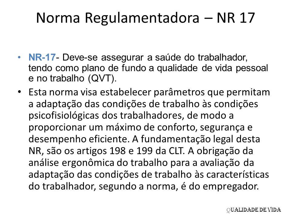 Norma Regulamentadora – NR 17