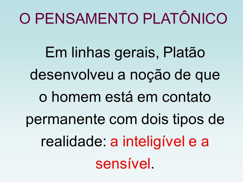 O PENSAMENTO PLATÔNICO