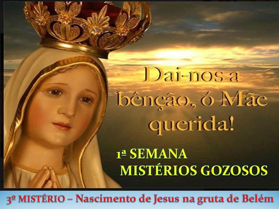 3º MISTÉRIO – Nascimento de Jesus na gruta de Belém