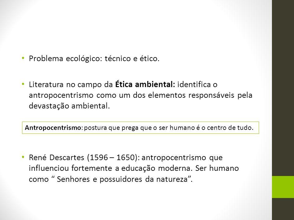 Problema ecológico: técnico e ético.
