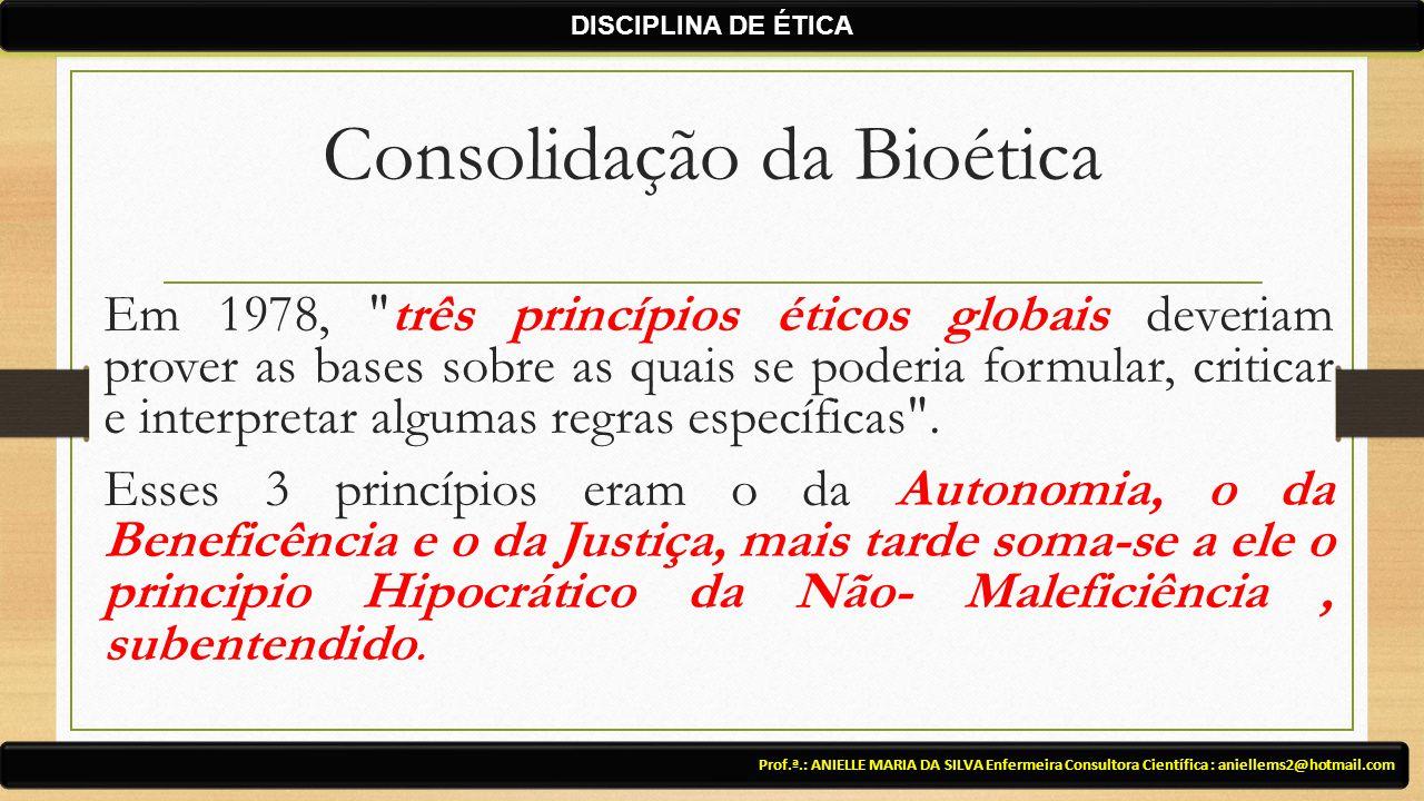 Consolidação da Bioética