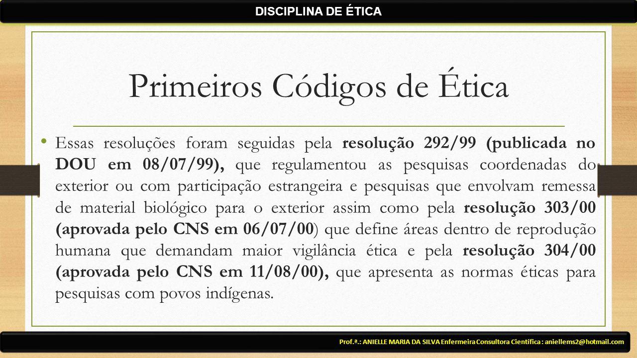 Primeiros Códigos de Ética