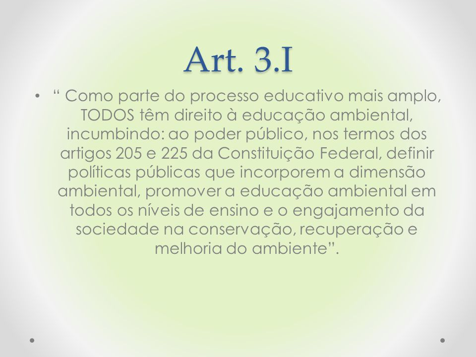 Art. 3.I