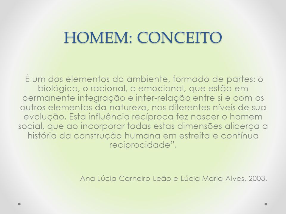 HOMEM: CONCEITO