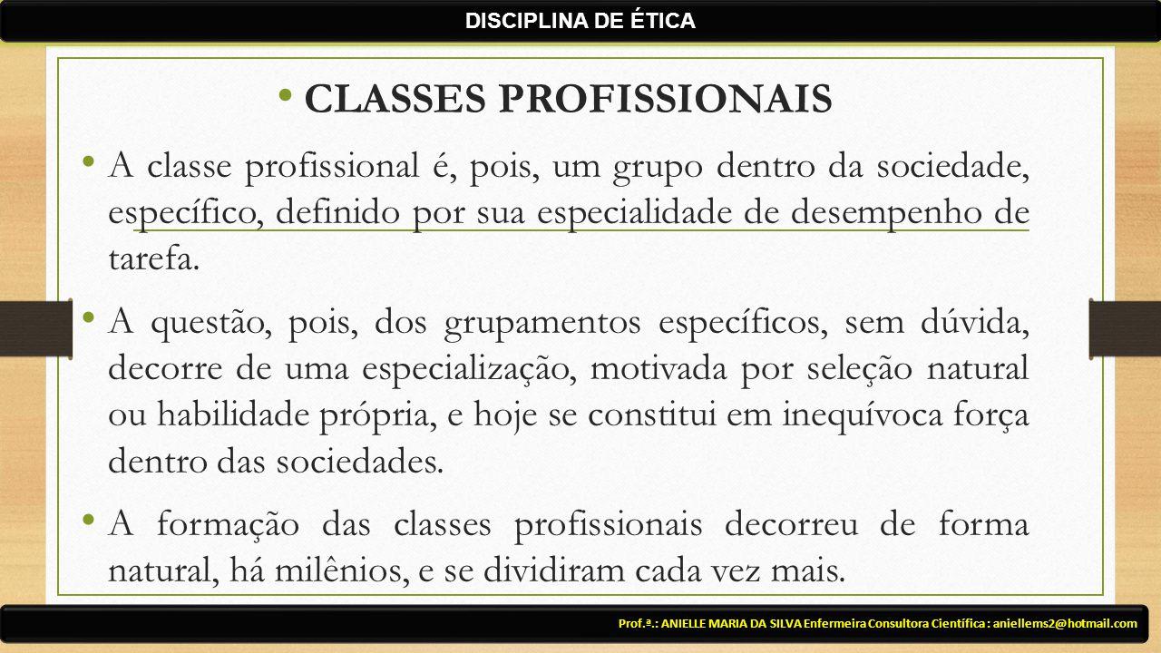 CLASSES PROFISSIONAIS