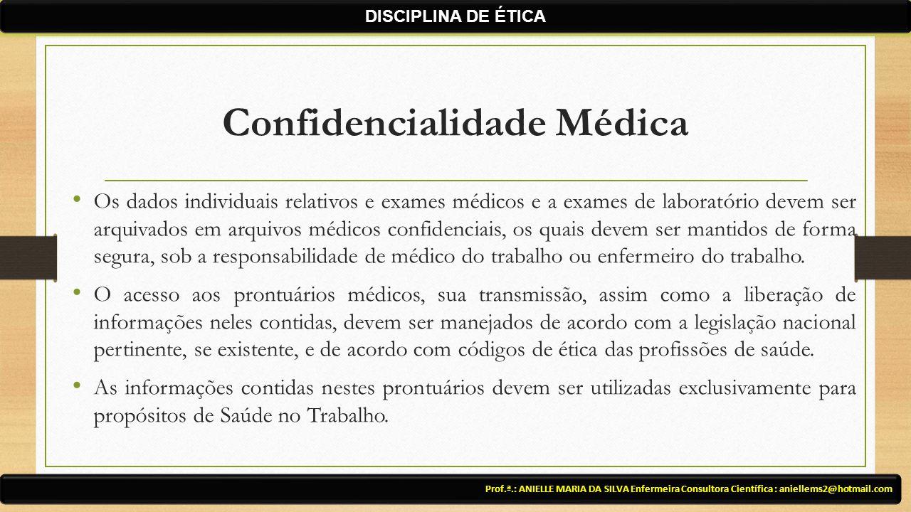 Confidencialidade Médica