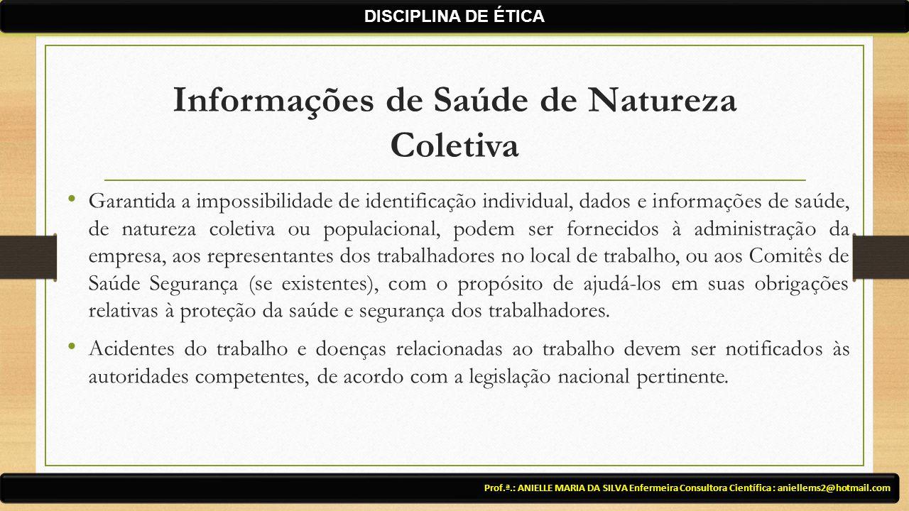 Informações de Saúde de Natureza Coletiva