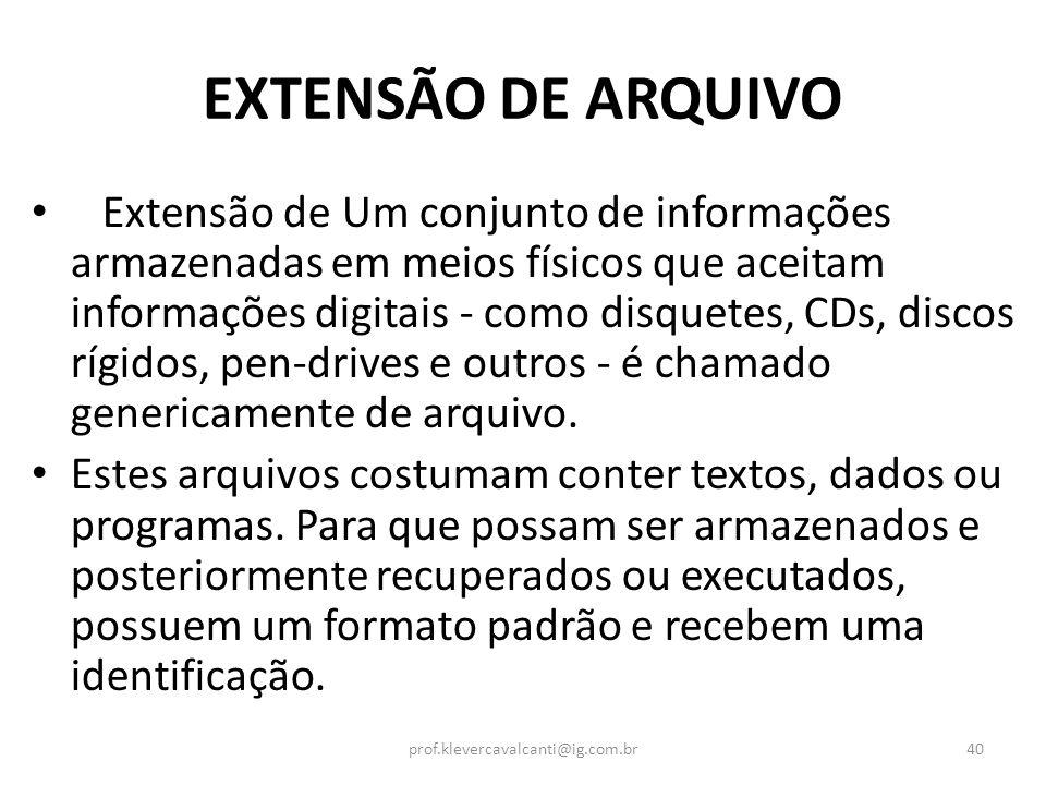 EXTENSÃO DE ARQUIVO