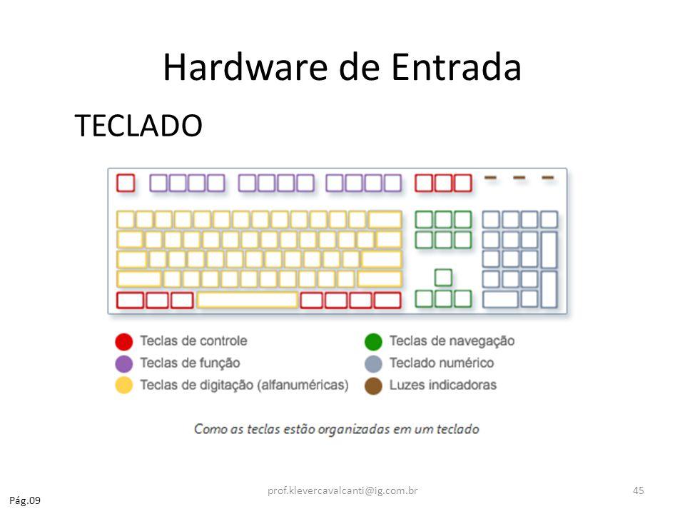 Hardware de Entrada TECLADO prof.klevercavalcanti@ig.com.br Pág.09
