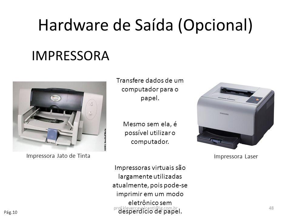 Hardware de Saída (Opcional)