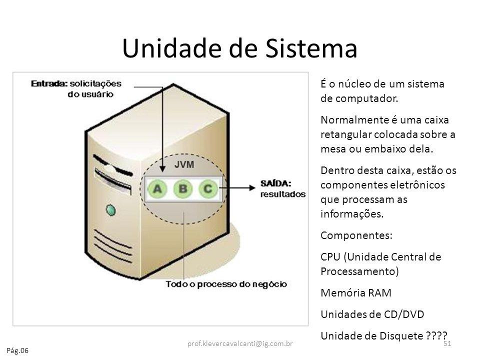 Unidade de Sistema É o núcleo de um sistema de computador.