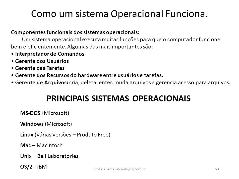 Como um sistema Operacional Funciona.