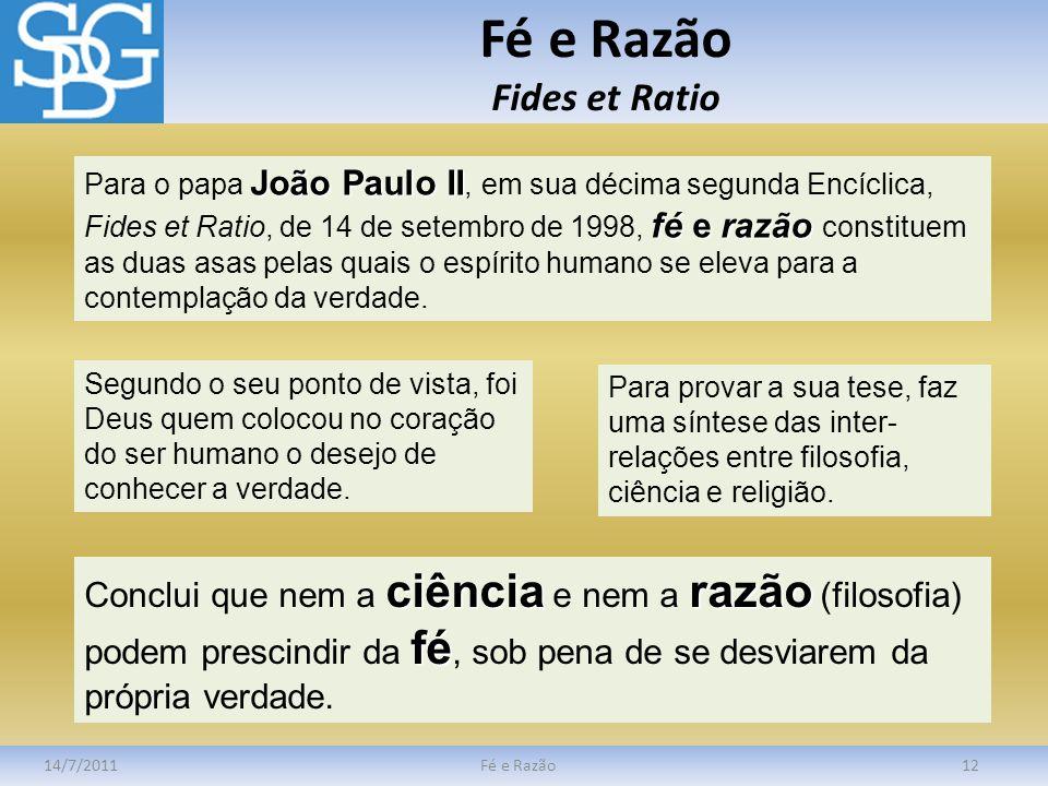 Fé e Razão Fides et Ratio