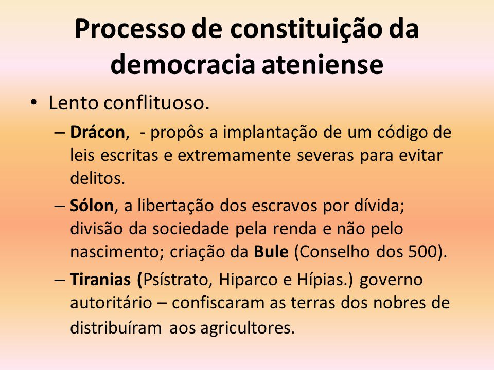 Processo de constituição da democracia ateniense