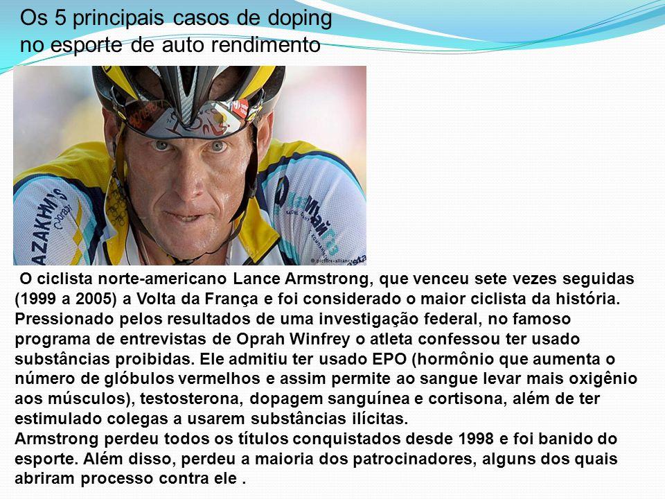 Os 5 principais casos de doping no esporte de auto rendimento