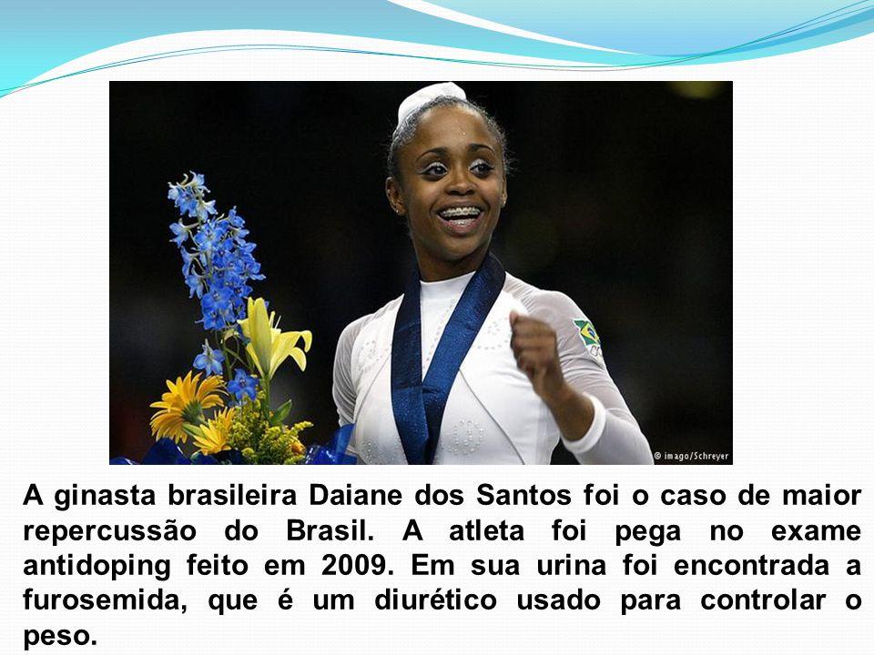 A ginasta brasileira Daiane dos Santos foi o caso de maior repercussão do Brasil.