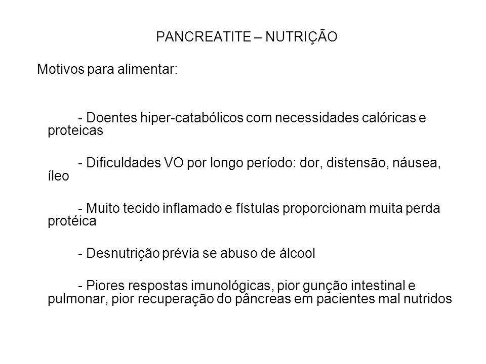 PANCREATITE – NUTRIÇÃO