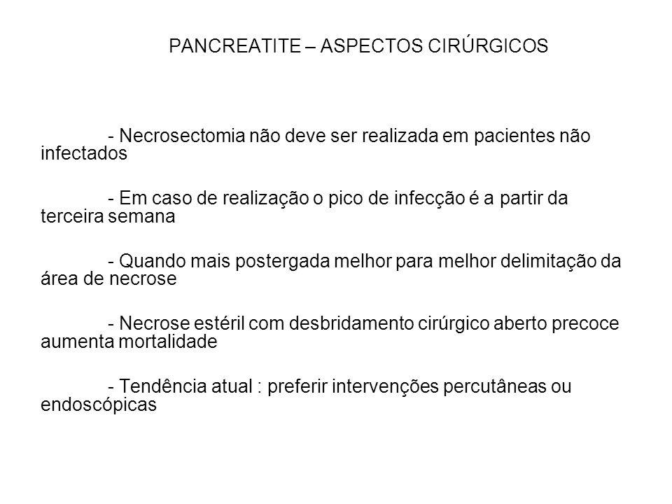 PANCREATITE – ASPECTOS CIRÚRGICOS