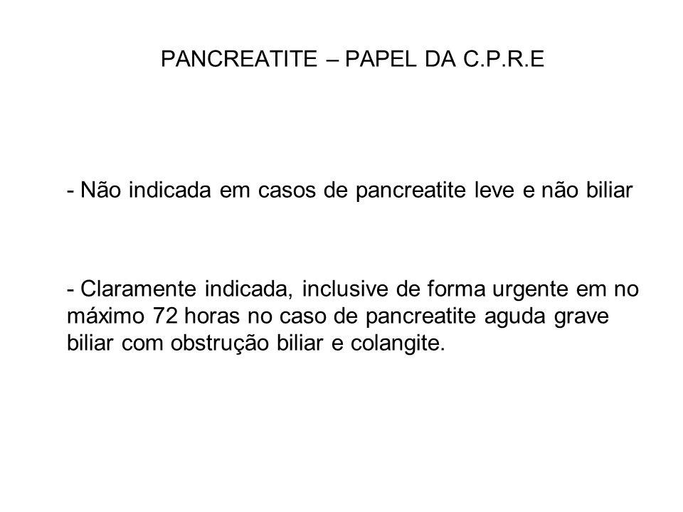 PANCREATITE – PAPEL DA C.P.R.E